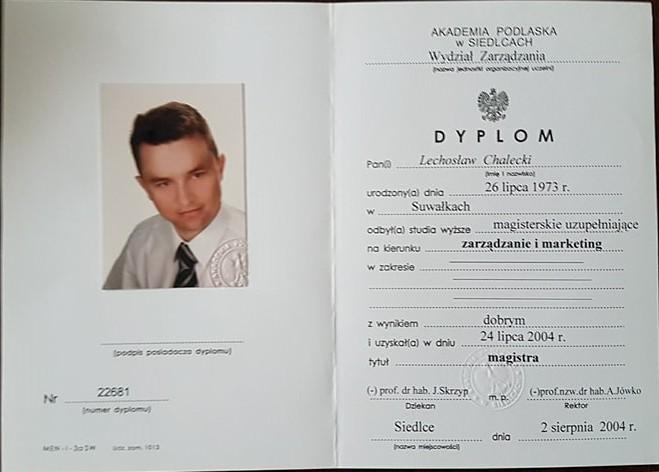 Dyplom Magisterski